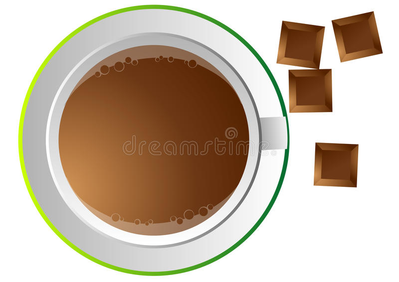 Download Coffee cup and chocolate stock vector. Image of interesting - 11872872