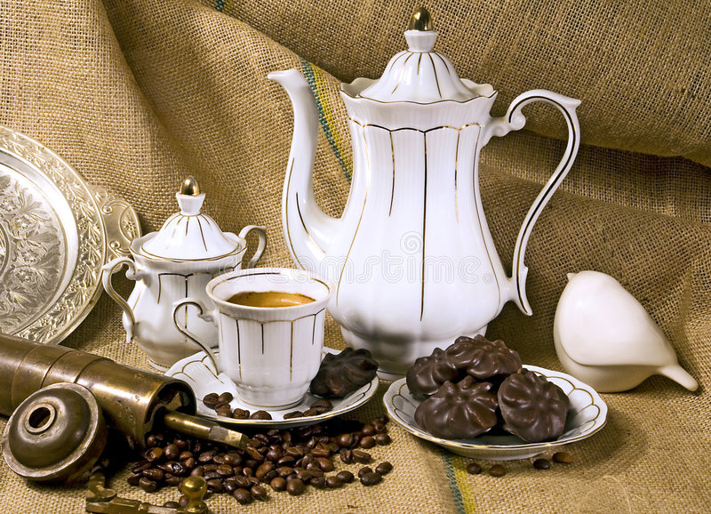 Download Coffee Cup And Coffee Beans Stock Photo - Image: 3172178