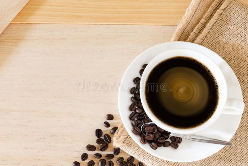 Download Coffee Cup And Coffee Beans Background Stock Image - Image of java, breakfast: 39511131
