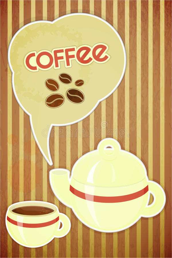 Coffee Cup And Coffee Pot Stock Image