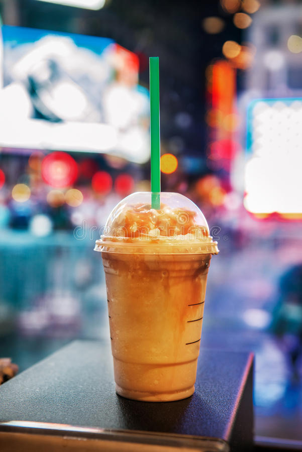 Coffee cup in coffee shop in New York City royalty free stock image