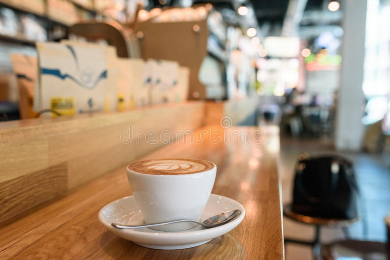 Coffee cup at coffeeshop royalty free stock photo