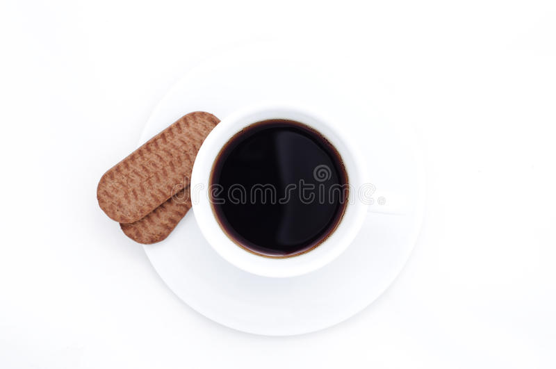 Download Coffee cup and cookies stock photo. Image of view, single - 23298662