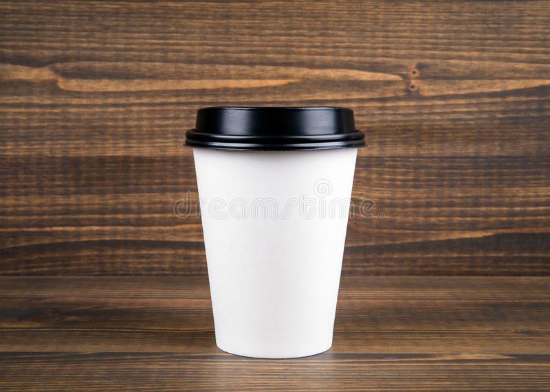 Coffee cup with copy space stock image