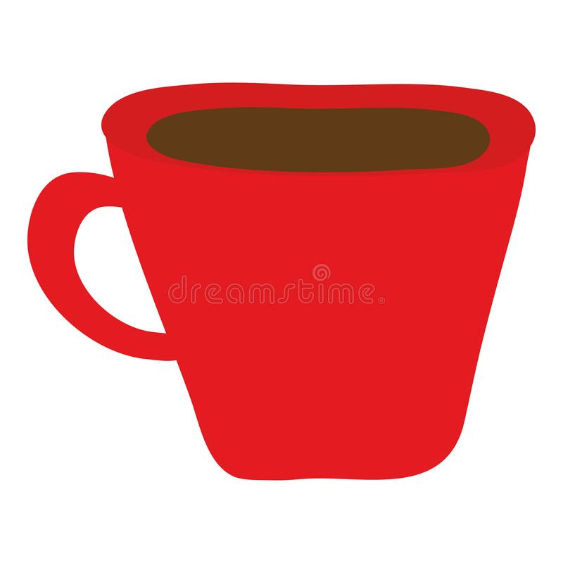 Coffee cup drink isolated icon royalty free illustration