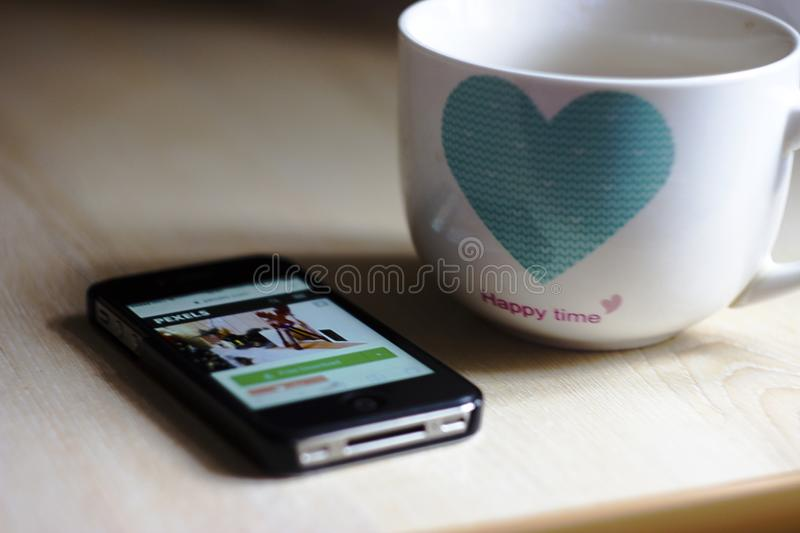 Coffee, Cup, Electronics royalty free stock photography