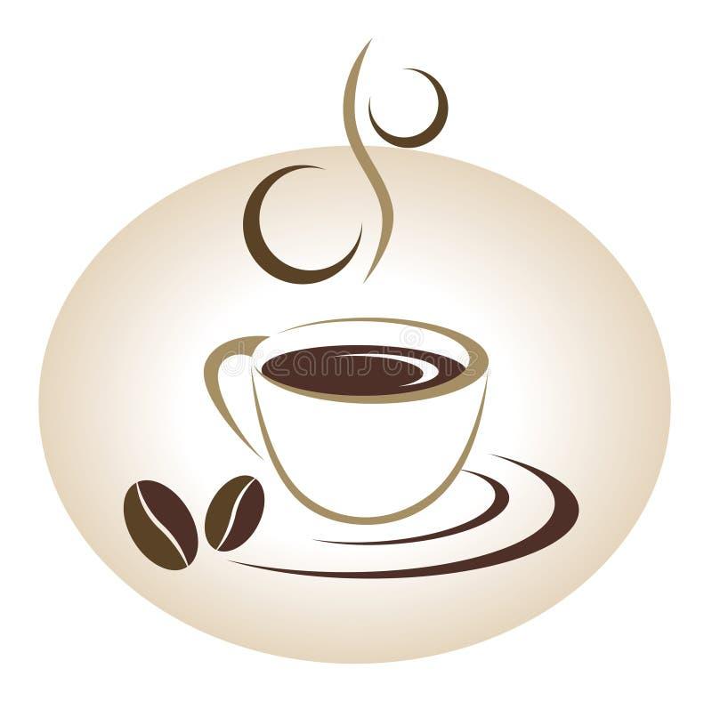 Coffee Cup Emblem Stock Photos