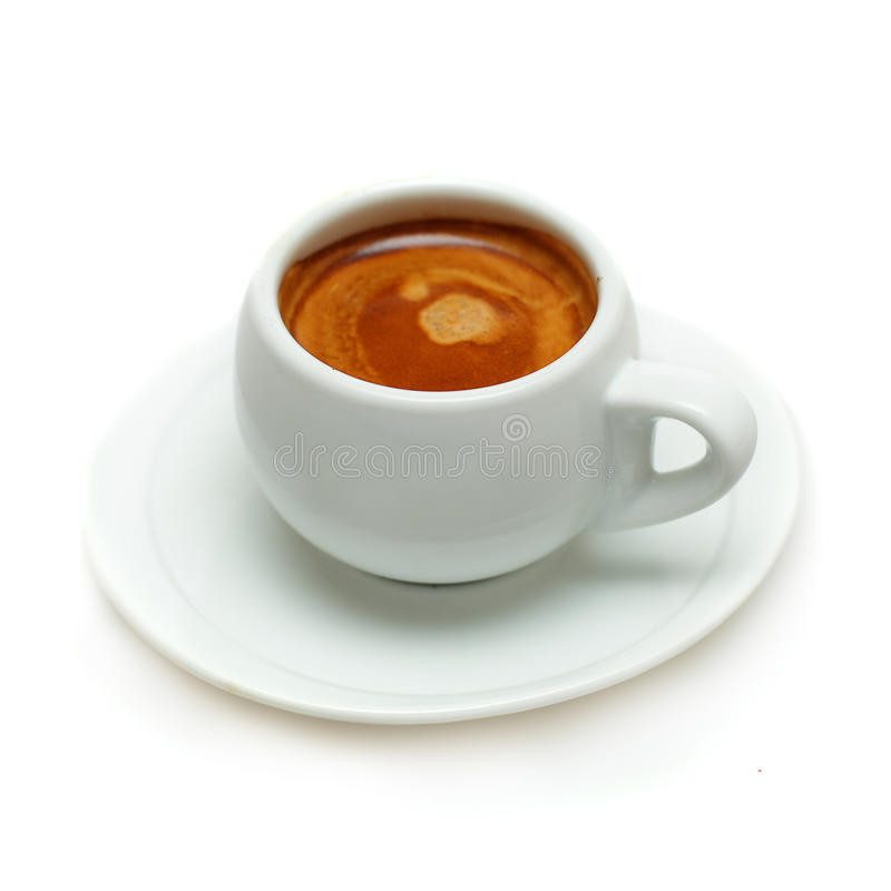 Coffee cup - Espresso. On white stock images