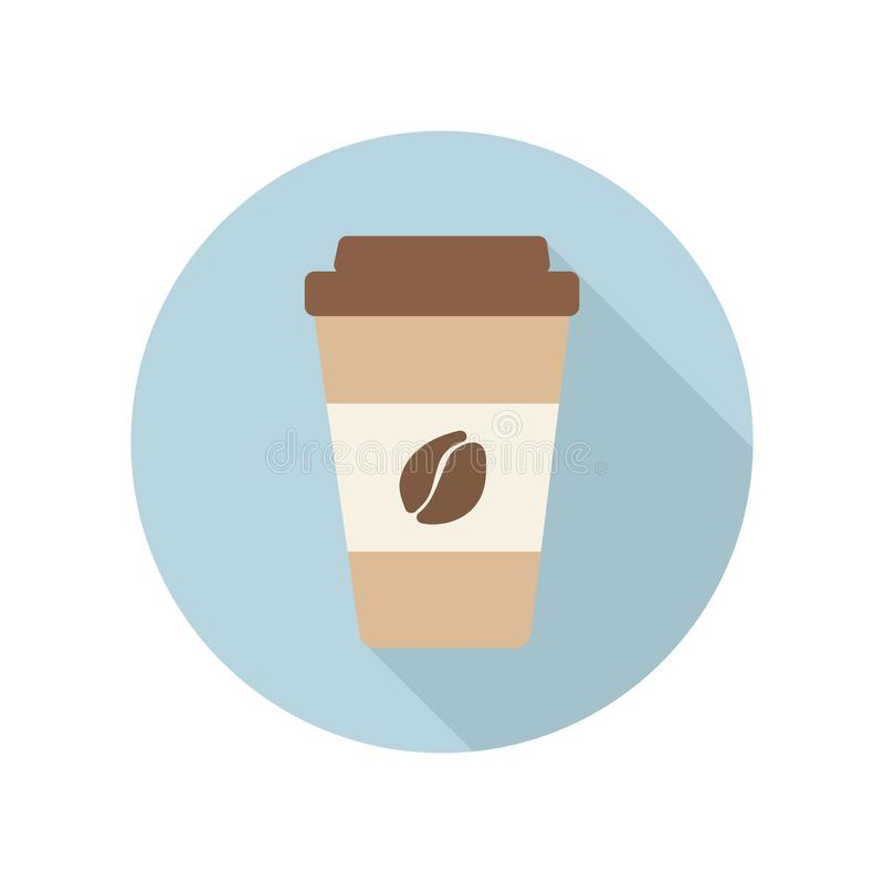 Coffee cup flat icon stock photo