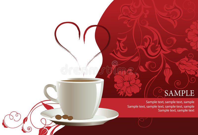 Download Coffee Cup With Floral Pattern. Stock Illustration - Image: 20280629