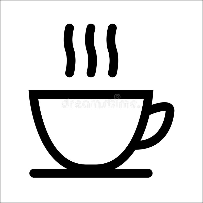 Coffee cup icon. On white background. Vector illustration stock illustration