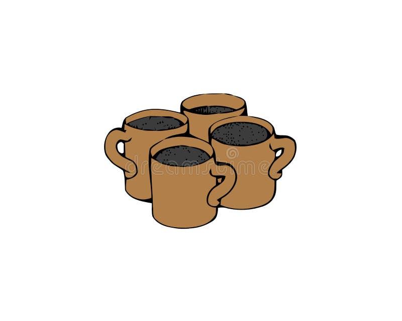 Coffee cup icon. Coffee drink vector symbol stock web illustration vector illustration