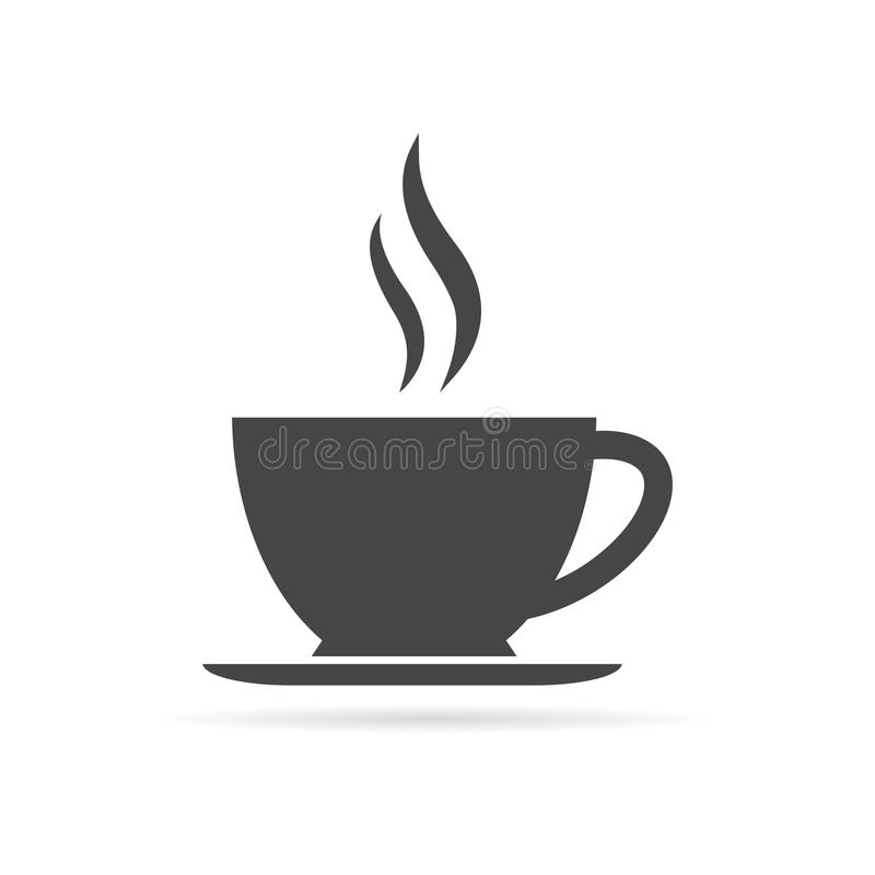 Coffee cup icon. Vector icon stock illustration