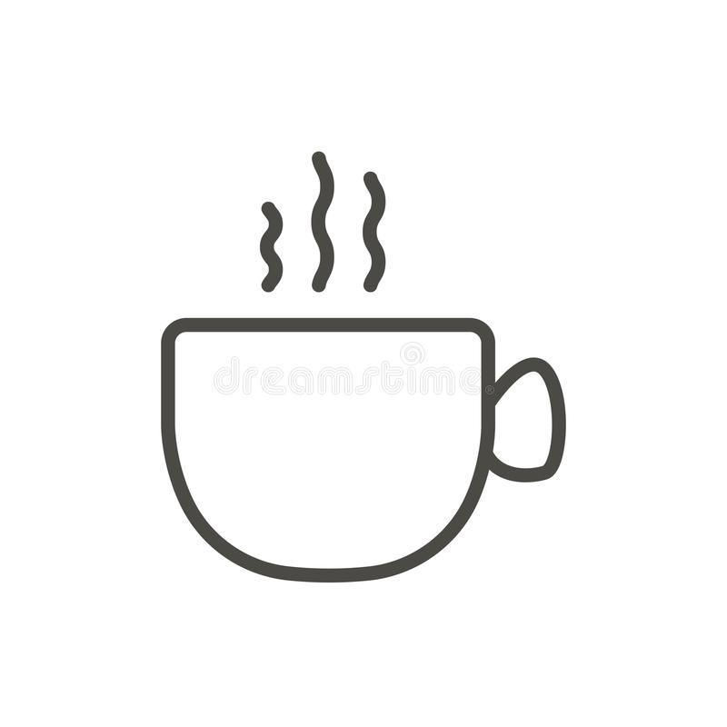 Coffee cup icon vector. Outline hot drink. Line coffee cup symbol. vector illustration