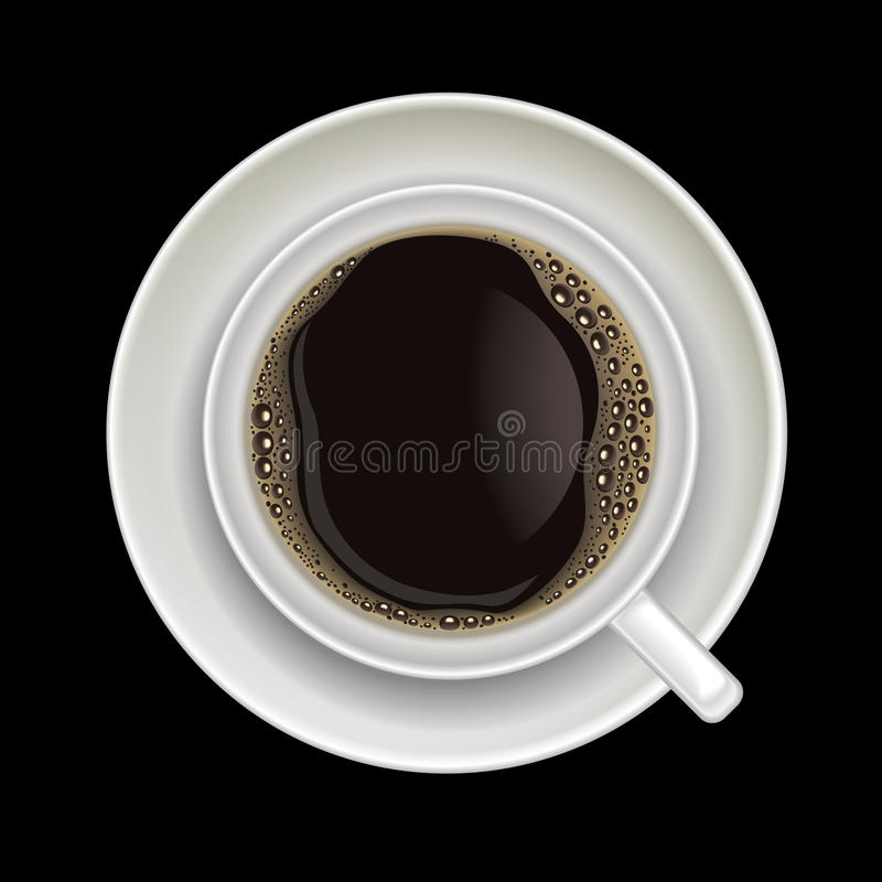 Free Coffee Cup Isolated On A Black Stock Image - 24874681
