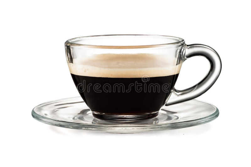Coffee cup isolated on white background. Coffee glass cup isolated on white background with clipping path stock image