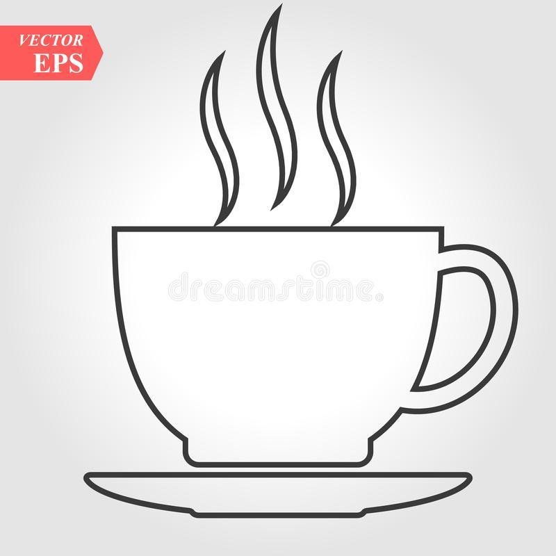 Coffee cup line icon, outline vector sign, linear pictogram isolated on white. Symbol, logo illustration vector illustration