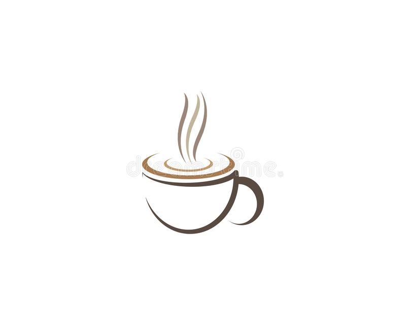 Coffee cup logo template royalty free illustration
