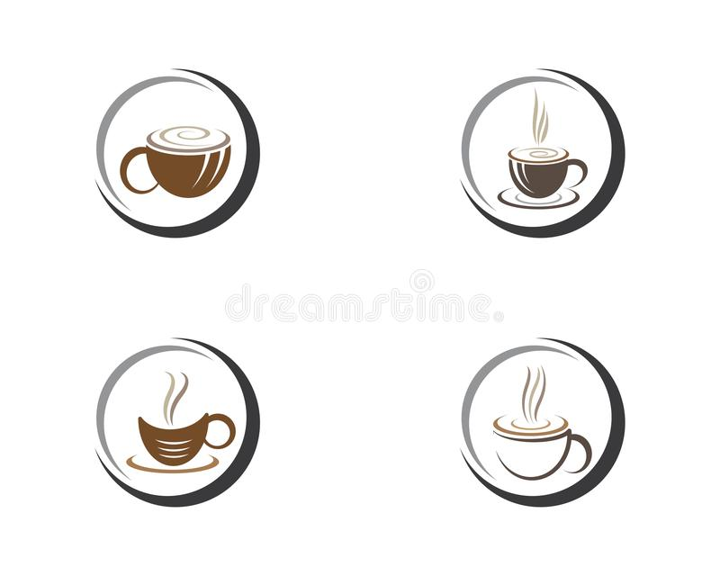 Coffee cup logo template stock illustration