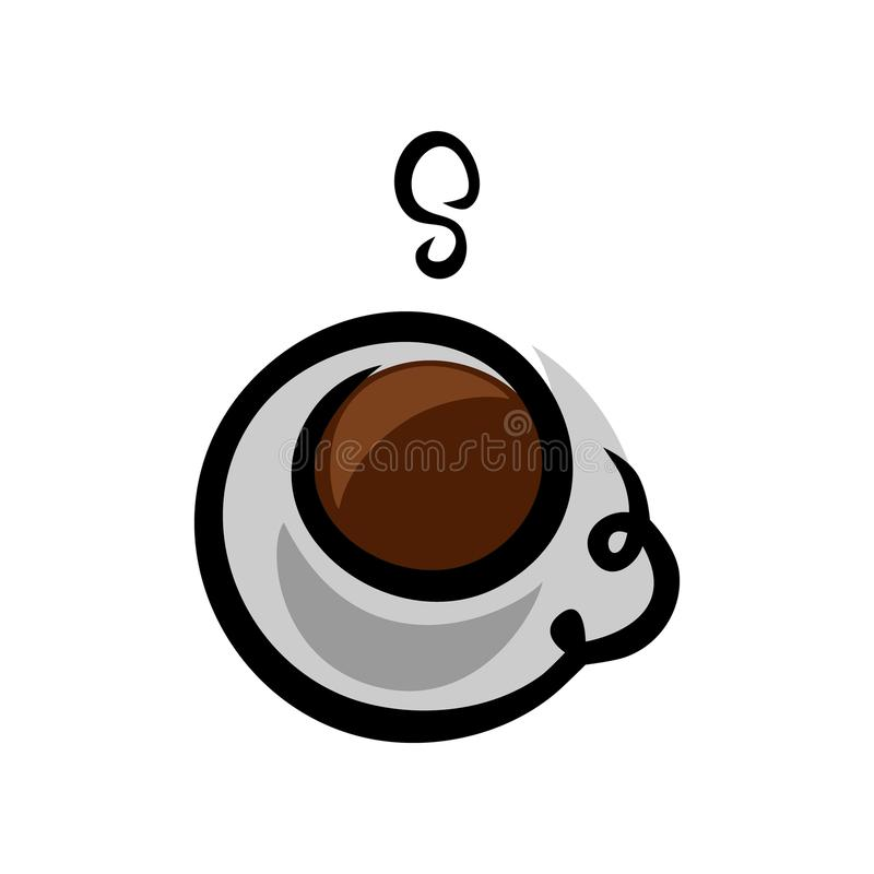 Coffee cup logo. On white background royalty free illustration