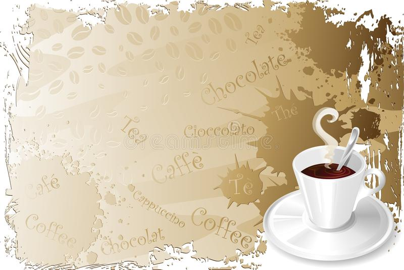 Download Coffee Cup Menu-2 stock illustration. Image of paper - 16511679