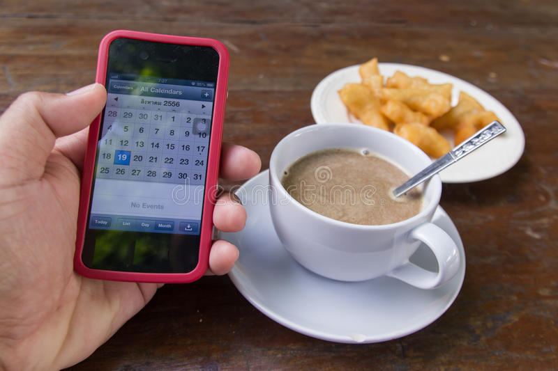 Download Coffee cup in morning stock image. Image of cell, mobile - 33162713