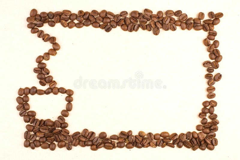 Download Coffee Cup Pattern Make Up By Coffee Bean Stock Photo - Image: 15734024