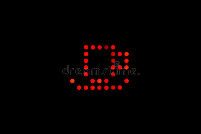 Coffee cup with red leds light royalty free stock photography