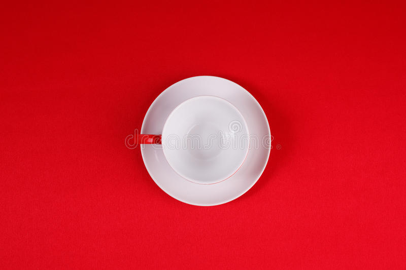 Download Coffee cup and saucer stock photo. Image of tablecloth - 27341892