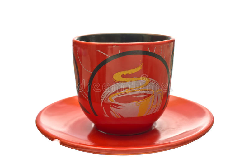 Download Coffee Cup on a saucer. stock image. Image of drink, dishes - 27441701