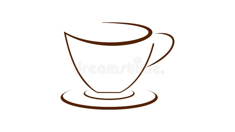 Coffee cup on the saucer royalty free illustration