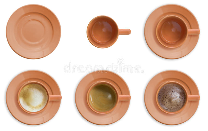 Download Coffee cup set stock photo. Image of aerial, bird, dish - 14591636