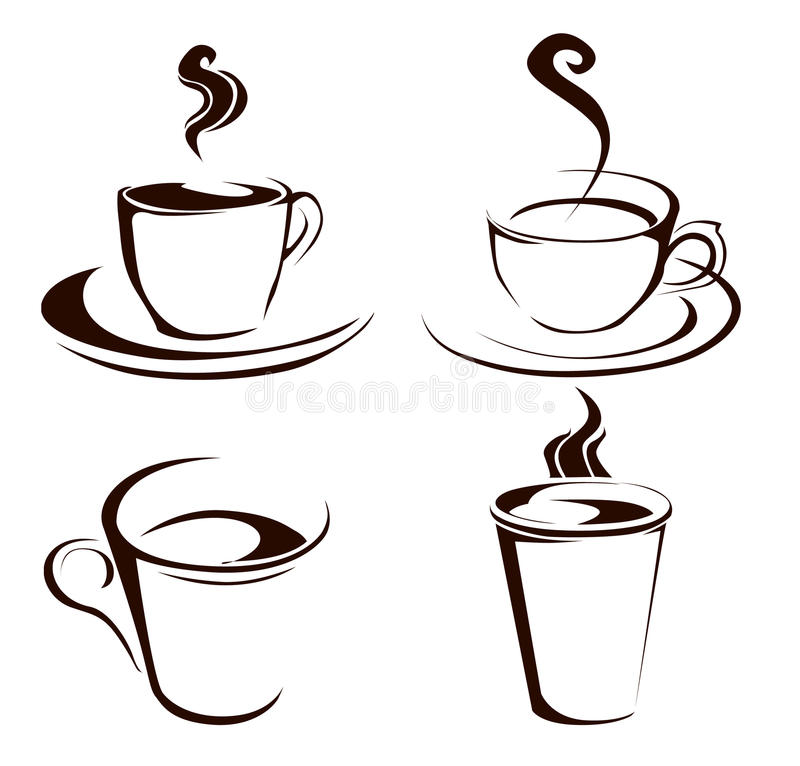 Coffee cup shapes vector illustration