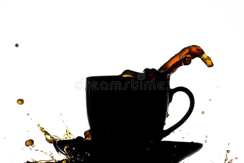 Coffee cup splash stock images