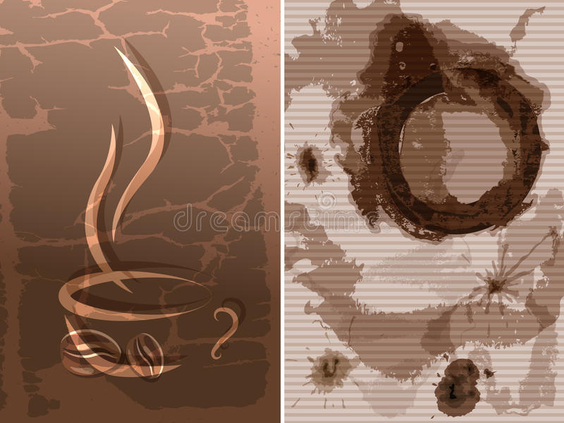 Download Coffee cup stain stock vector. Image of background, cafe - 26495940
