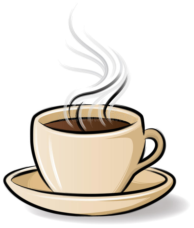 Coffee Cup with Steam royalty free illustration