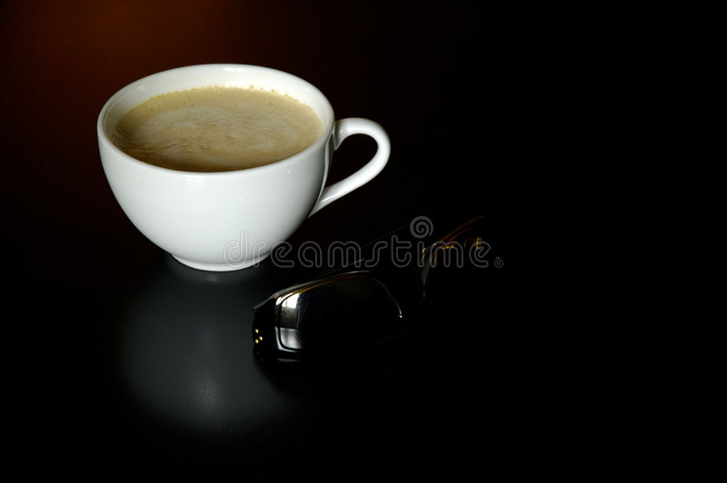 Download Coffee cup and sunglasses stock image. Image of cafe, powder - 191835