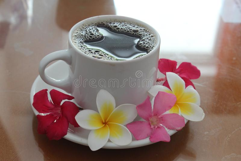 Coffee Cup, Cup, Tableware, Flower royalty free stock image