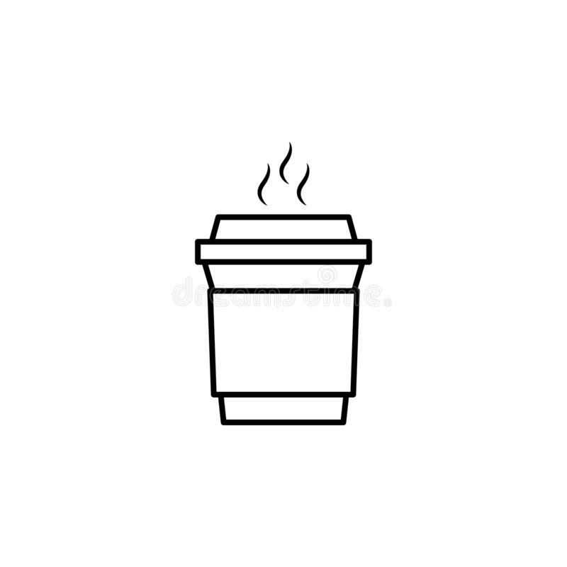 Coffee, cup, take away icon. Element of education illustration. Signs and symbols can be used for web, logo, mobile app, UI, UX stock illustration