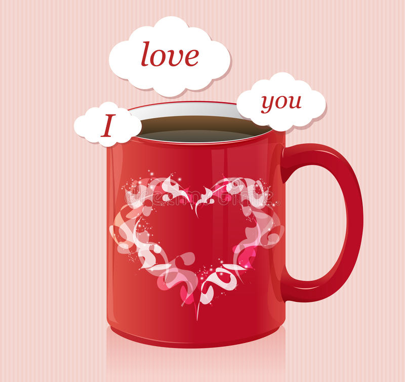 Download Coffee Cup With Text Area Valentines Day Card Stock Vector - Illustration: 31080930