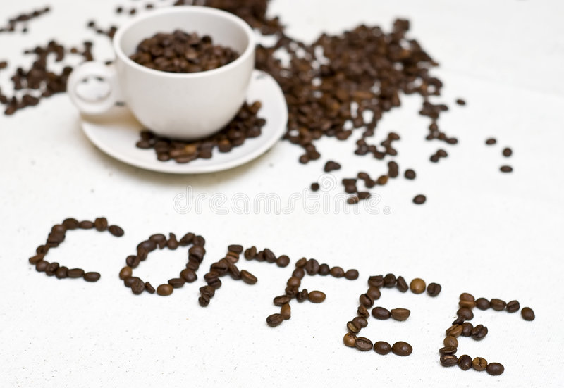 Coffee Cup Text -  Coffee  Stock Image
