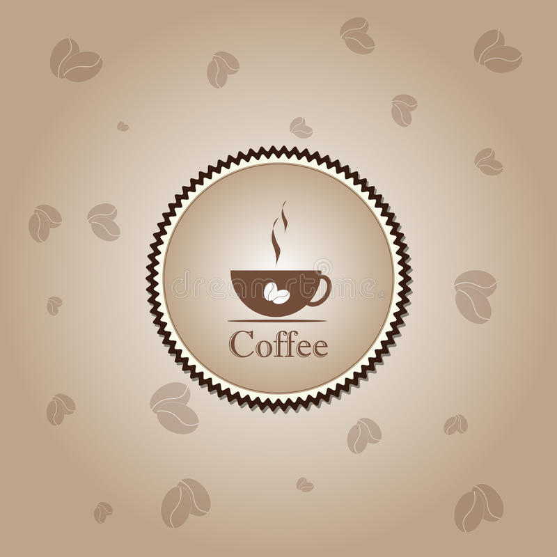 Coffee cup time concept design background vector illustration