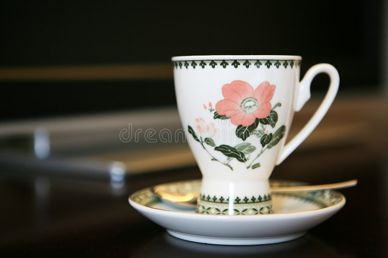 Download Coffee Cup Beside TV Stock Image - Image: 7220521