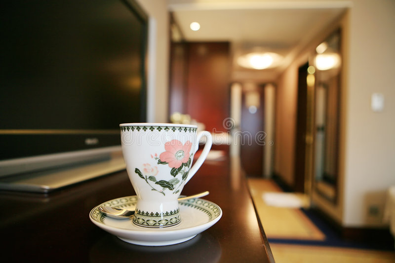 Download Coffee cup beside TV stock image. Image of drink, media - 7220539