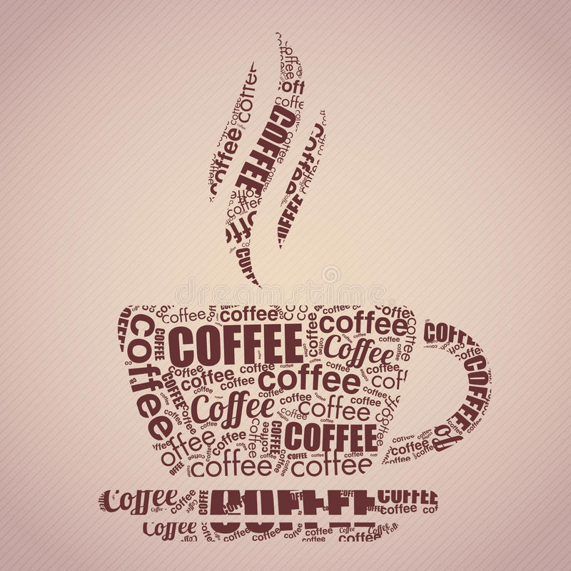 Download Coffee Cup Typography Words Cloud Stock Vector - Illustration of black, cloud: 29446979