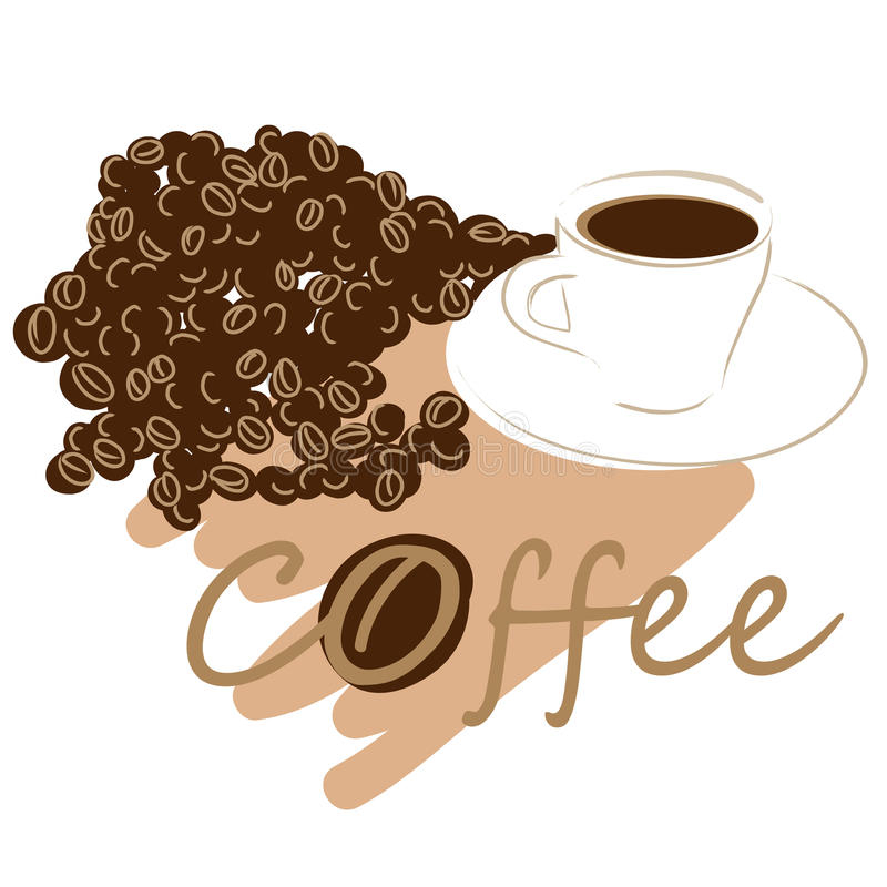 Download Coffee cup vector stock vector. Image of decaf, beans - 18913082