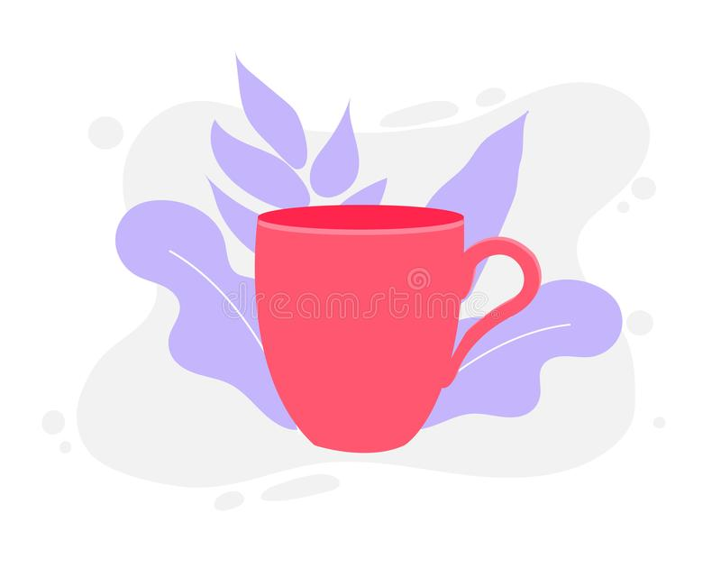 Coffee cup vector illustration isolated on background stock illustration