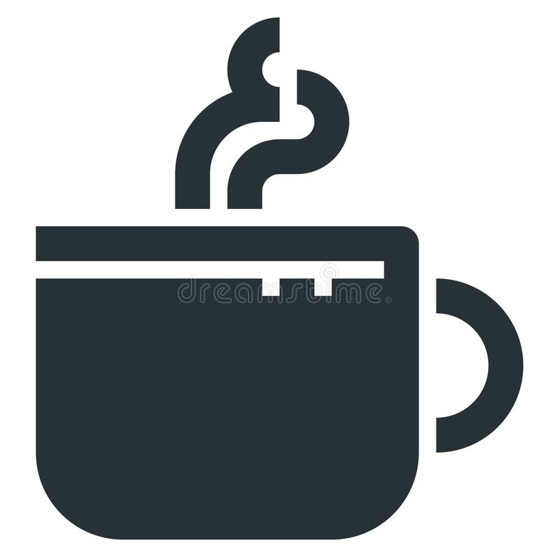Coffee Cup Vector Line Icon 32x32 Pixel Perfect. Editable 2 Pixel Stroke Weight. Medical Health Icon for Website Mobile App. Presentation royalty free illustration