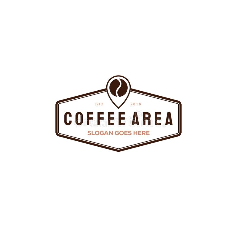 Coffee cup vector logo design template. Vector coffee shop labels royalty free illustration