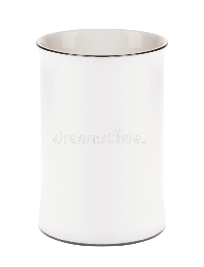 Coffee cup on white background stock images